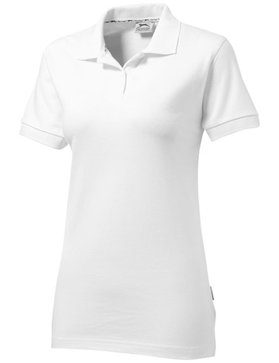 33S03•FOREHAND POLO WOMEN, L, white solid (01)