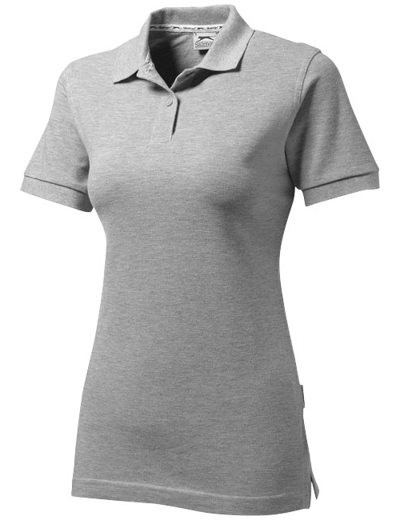33S03•FOREHAND POLO WOMEN, L, sport grey (96)