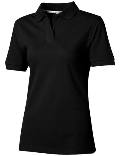 33S03•FOREHAND POLO WOMEN, L, black (99)