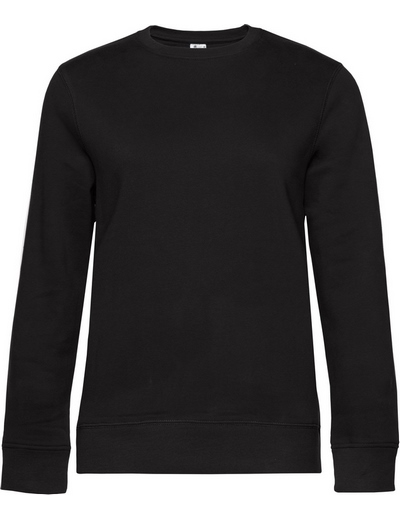 O83•B&C QUEEN CREW NECK, 2XL, black pure (03)