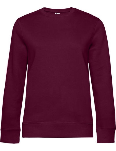 O83•B&C QUEEN CREW NECK, 2XL, dark cherry (08)