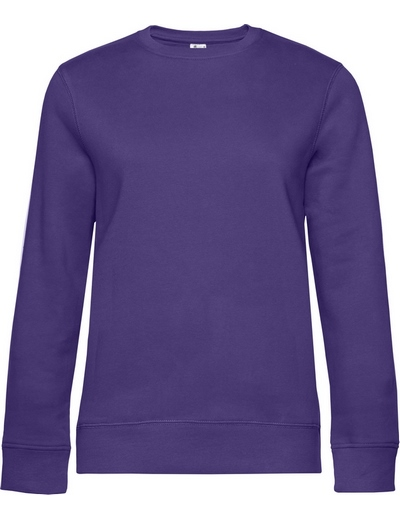 O83•B&C QUEEN CREW NECK, 2XL, radiant purple (62)
